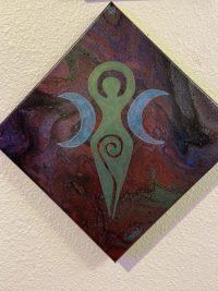 The Triple Goddess on a 6x6 deep canvas