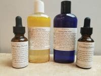 Vibrant Series is a face wash and serum set. With a morning wash and serum and an evening wash and serum. You may come to find your skin clearing up from acne, red spots fading away, fine lines and wrinkles fading, smoother and glowing skin. I named it Vibrant because of what it does to the skin, it transforms it into a happier, healthier tone.